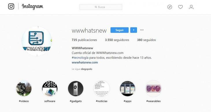 cuenta de instagram.com/wwwhatsnew