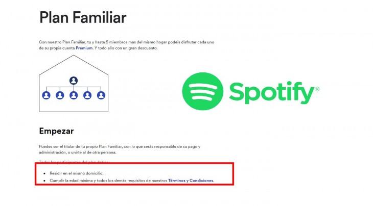 Spotify podría cancelar tu plan familiar si lo compartes con amigos