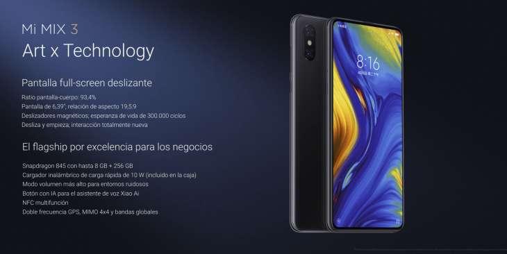 Xiaomi Mi Mix 3, el todo pantalla con cámara extraíble