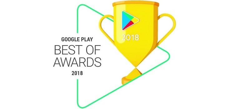 Premiación mejores apps y juegos en Google Play 2018