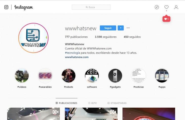 Instagram de WWWhatsnew