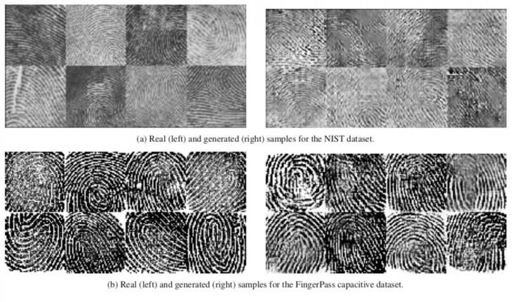 Huellas falsas Vs huellas creadas por ordenador