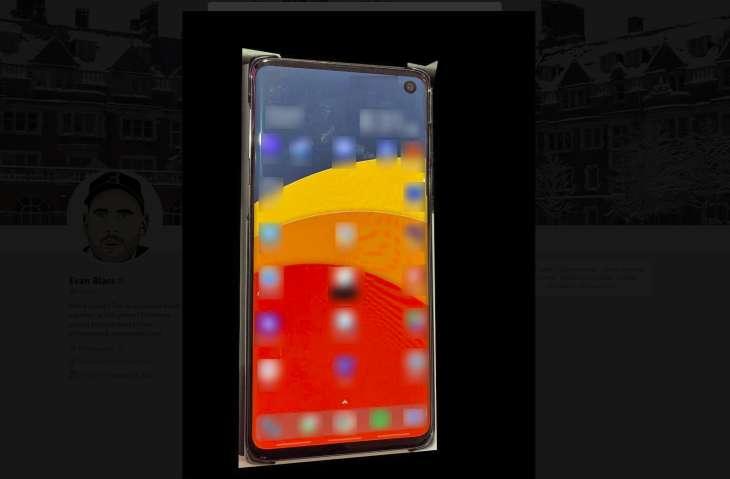 Filtran foto del Galaxy S10, tiene un orificio en la pantalla