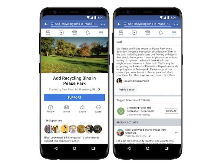 Facebook estrena función para realizar peticiones políticas
