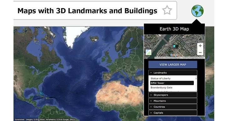 Mapa 3D de la tierra
