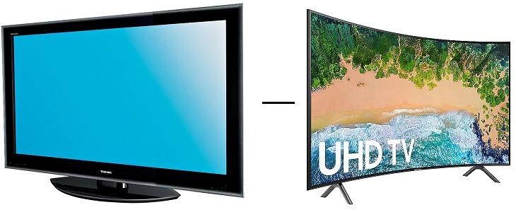 Televisor Toshiba vs Televisor curvo