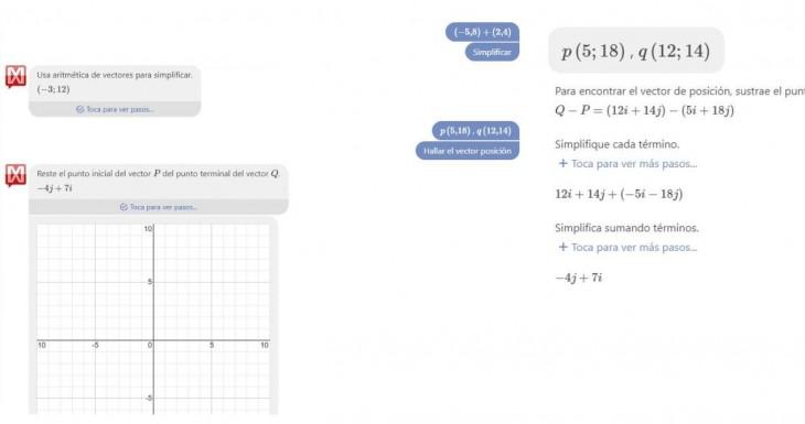 Aritmética vectorial.