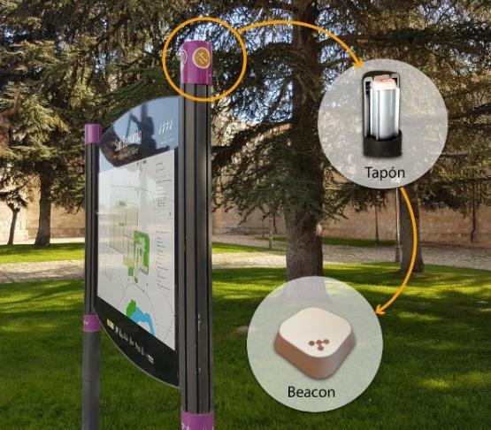 Instalación de Beacon en soporte