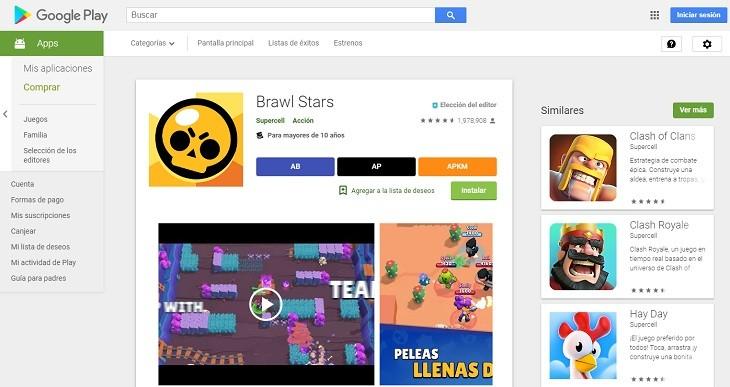 Google Play versión web