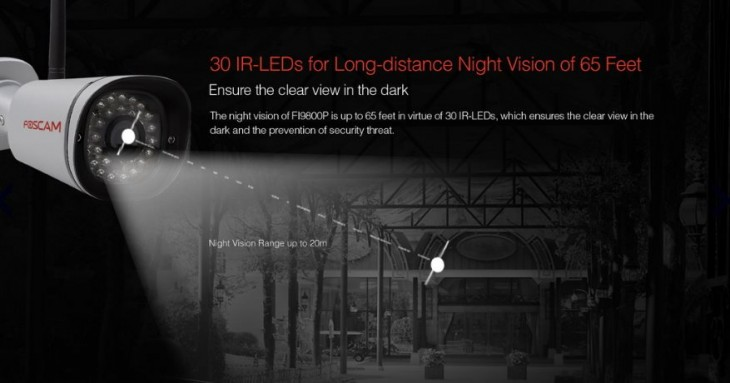 vision nocturna de la Foscam