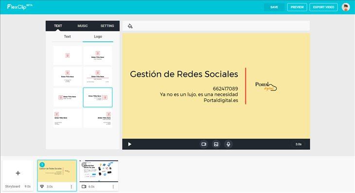 FlexClip, un editor de vídeo online, gratuito y muy práctico