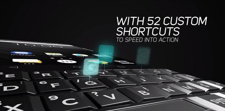 teclado del BlackBerry Key2
