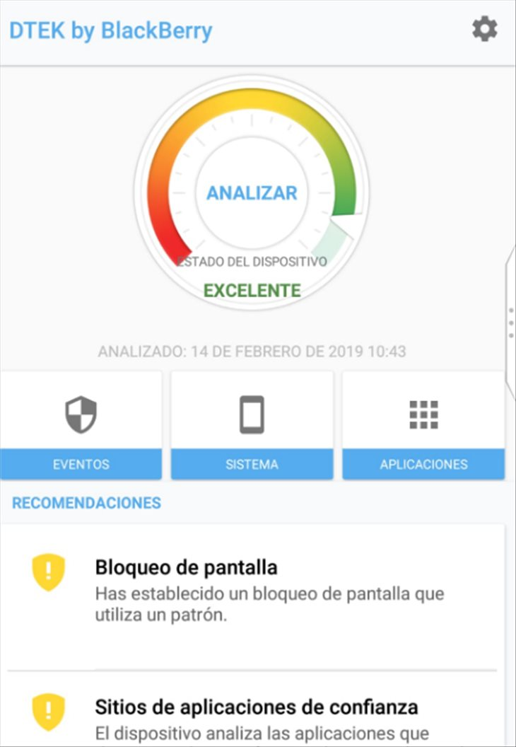 Dtek de BlackBerry Key2