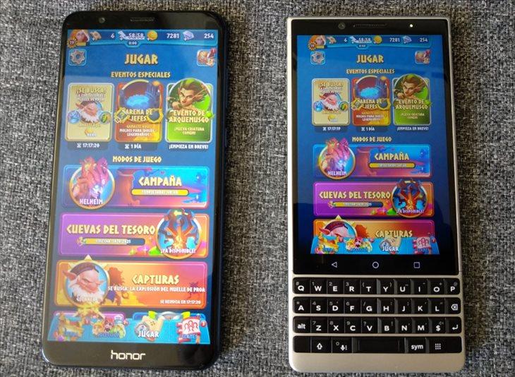 Así se ve el juego Legend of Solgard en un Blackberry Key2