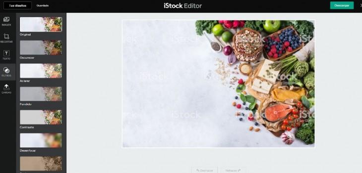 Usando el editor de imágenes de iStock en esta fotografía