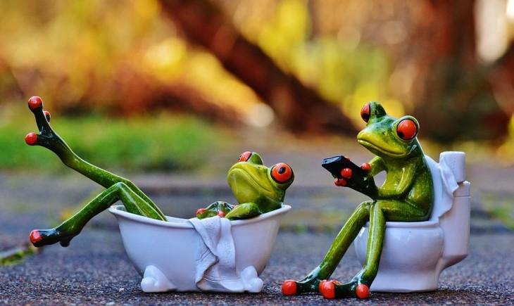ranas con móviles