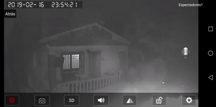 Aspecto nocturno con la cámara Sricam