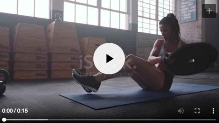 Ejemplo de un vídeo listo en iStock