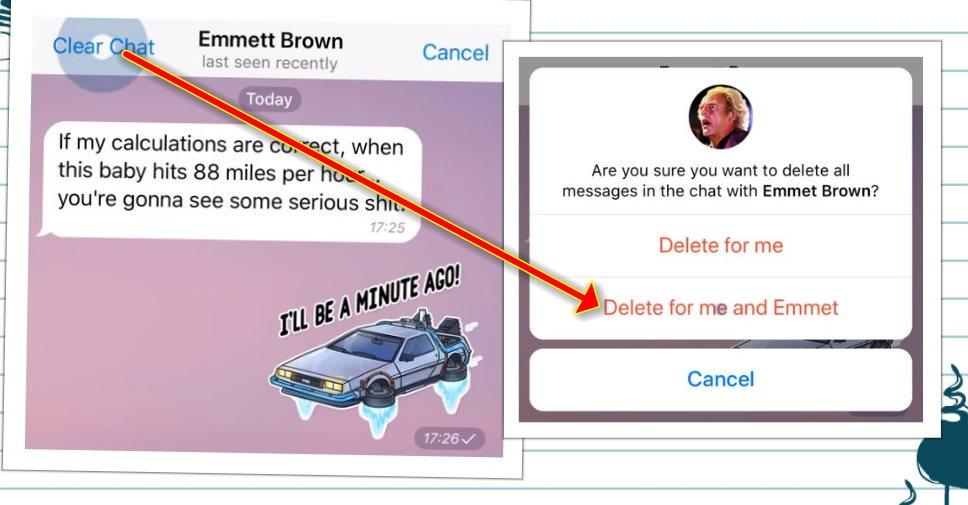 """Telegram presenta una función """"para borrarlo todo"""""""