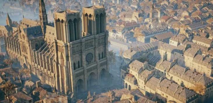 Modelo 3D de Notredame para el juego Assassin's Creed