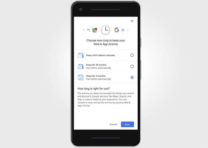 Google trae una nueva opción de control para los datos de los usuarios
