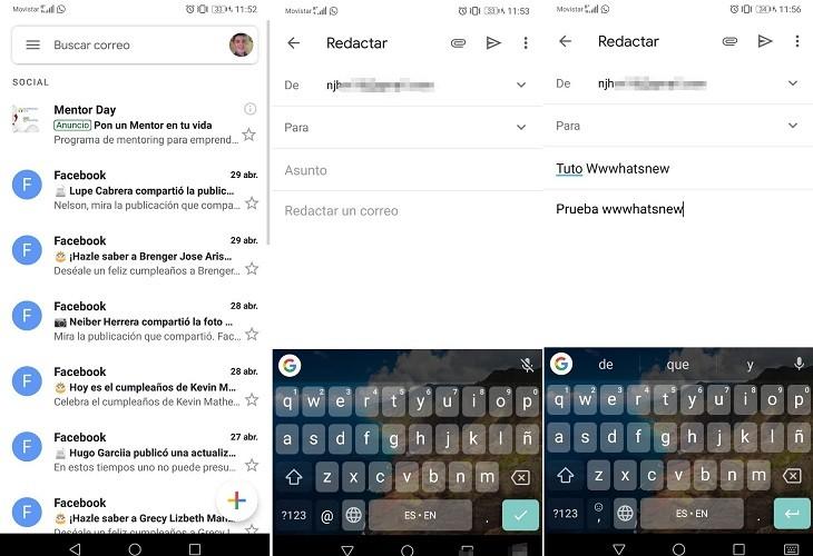 Programar correos en Gmail paso A