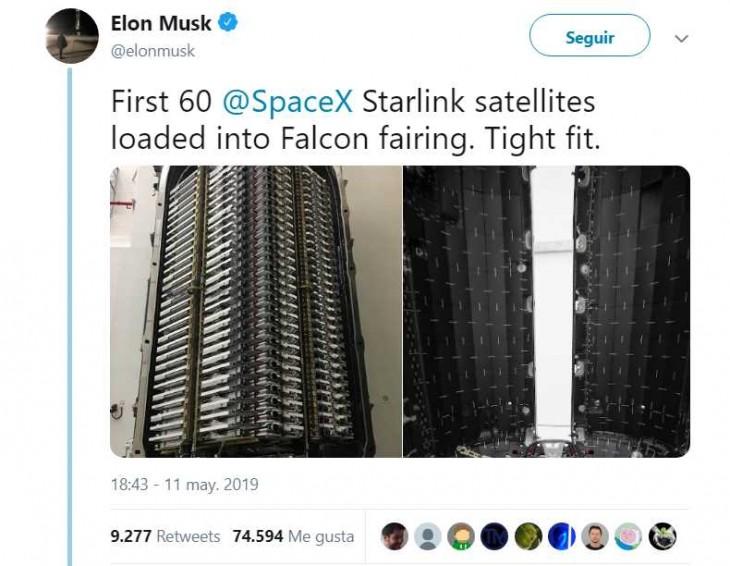 satélites Elon Musk