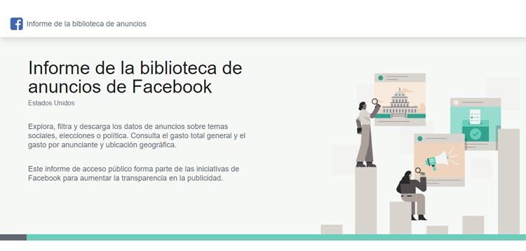 Biblioteca de anuncios Facebook