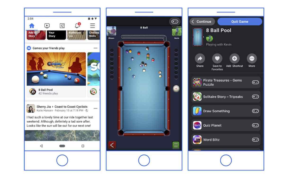 Facebook trasladará los Juegos Instantáneos de Messenger a su aplicación principal