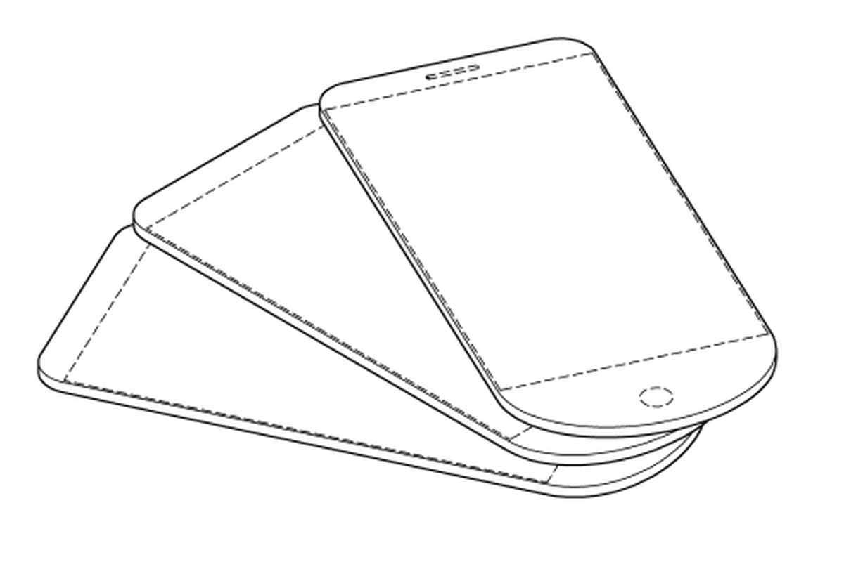 Samsung solicita patente de diseño de teléfono de tres pantallas unidas por la parte inferior