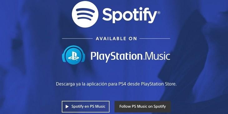 Spotify en PS4