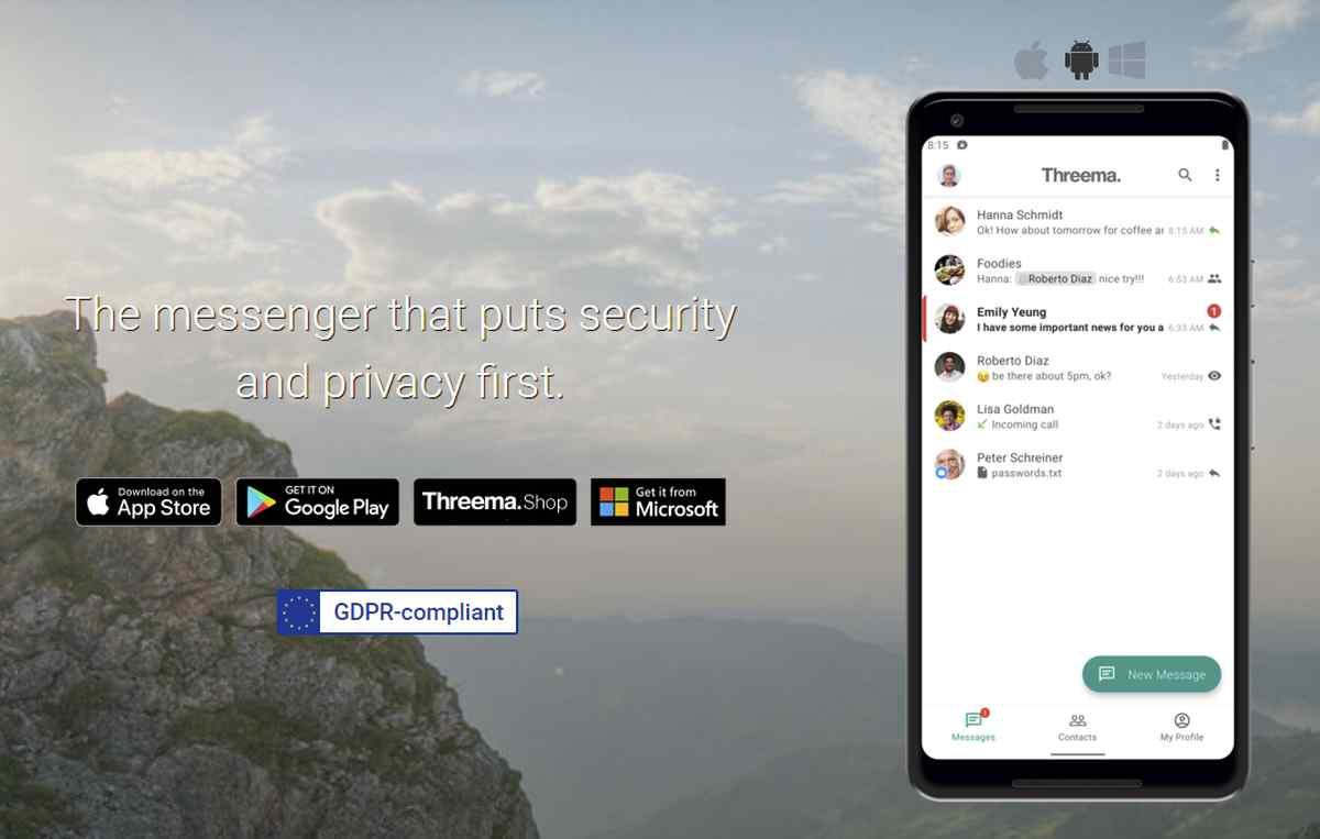 El servicio de mensajería Threema presenta importante actualización de su app para Android