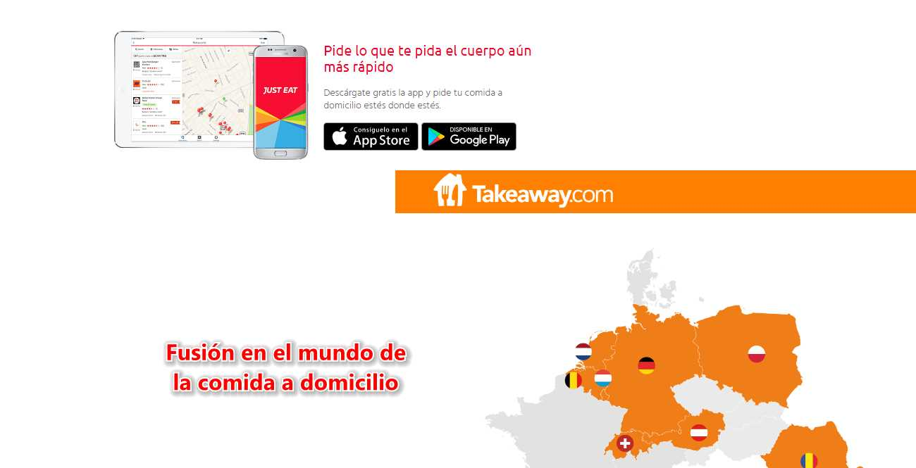 Just Eat y Takeaway, de comida a domicilio, se van a fusionar