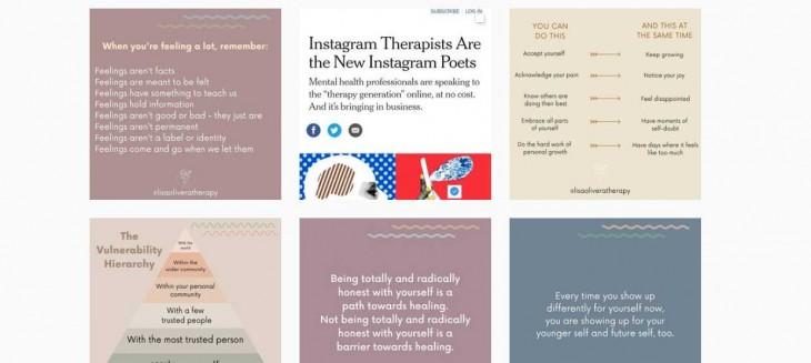Terapeutas en Instagram, una tendencia al alza