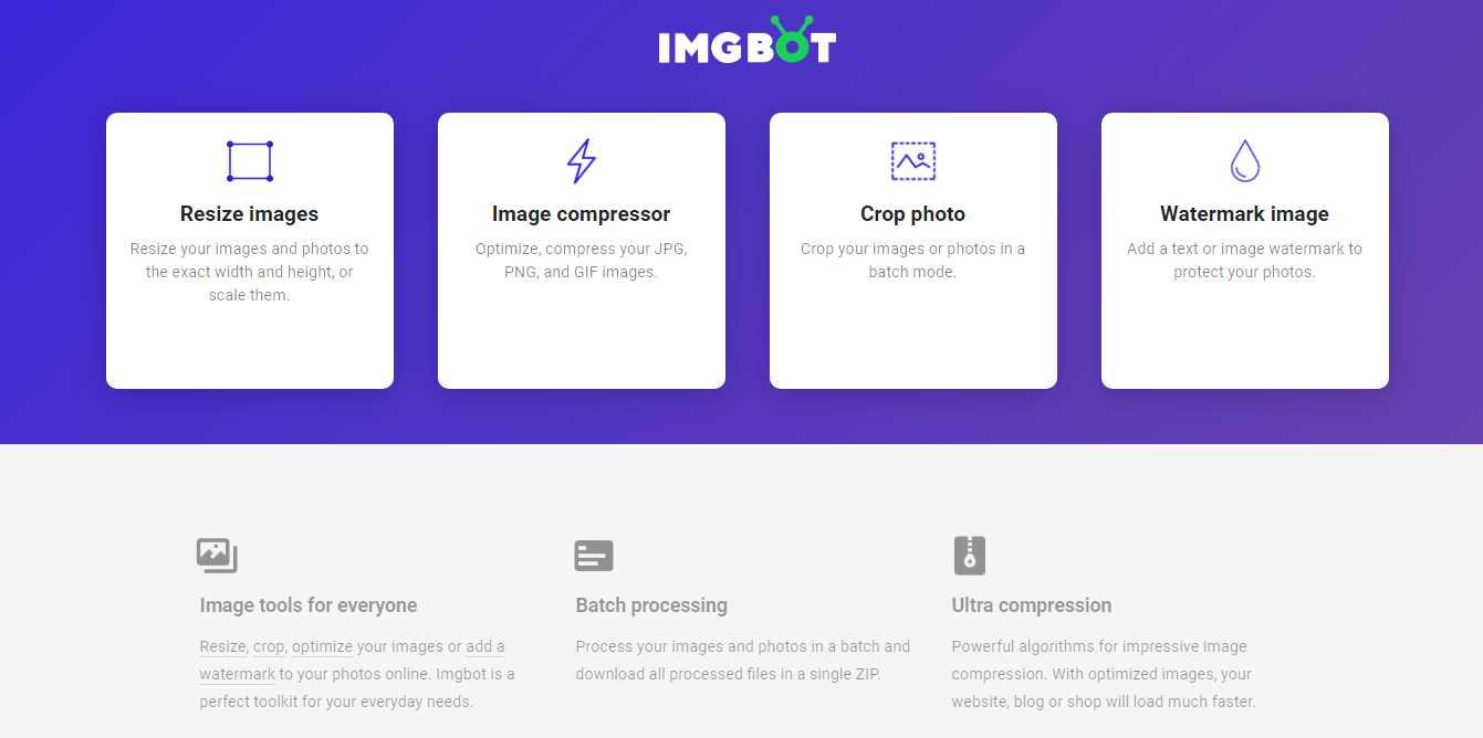 Imgbot, una web para optimizar y modificar imágenes de forma gratuita