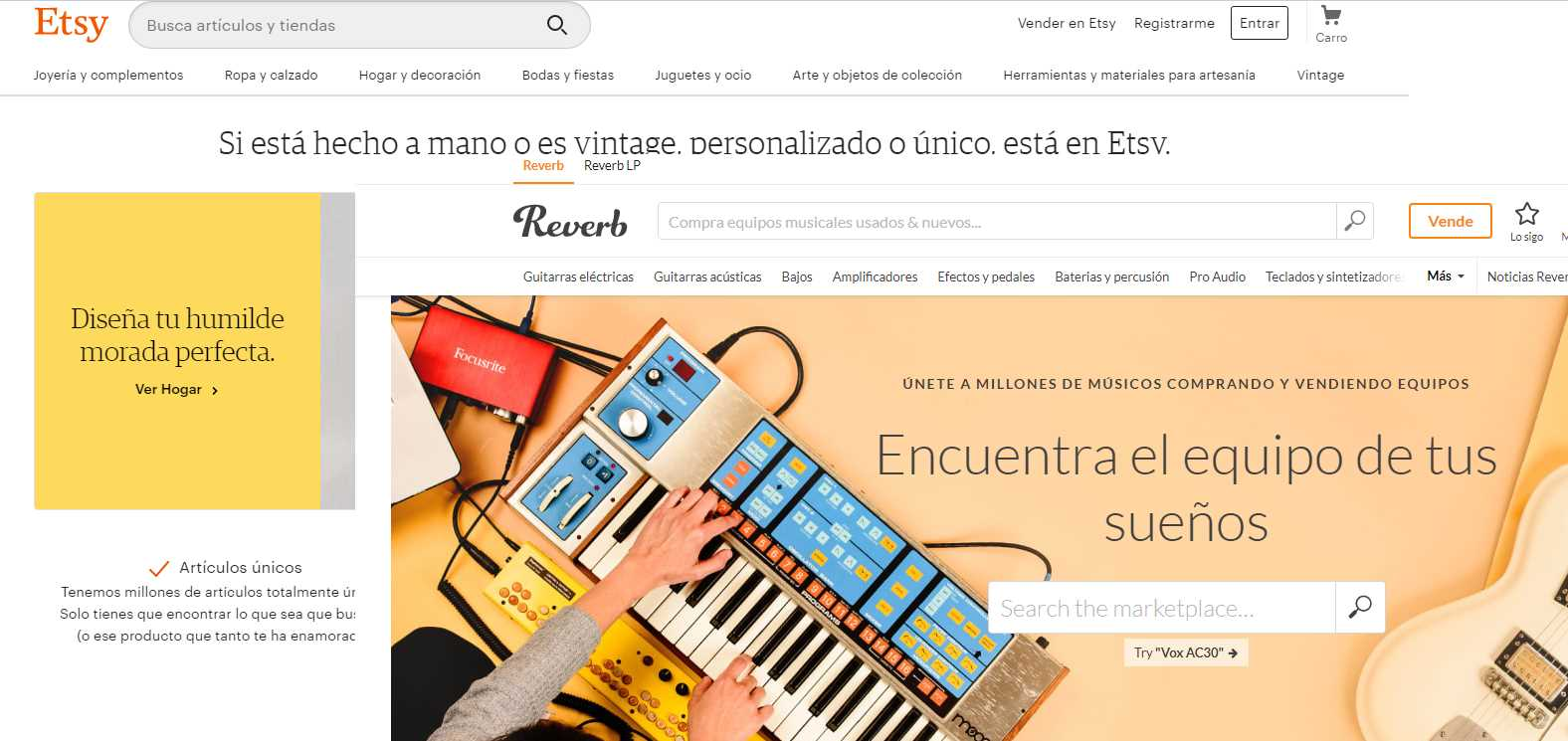 Etsy compra el mercado de instrumentos online Reverb