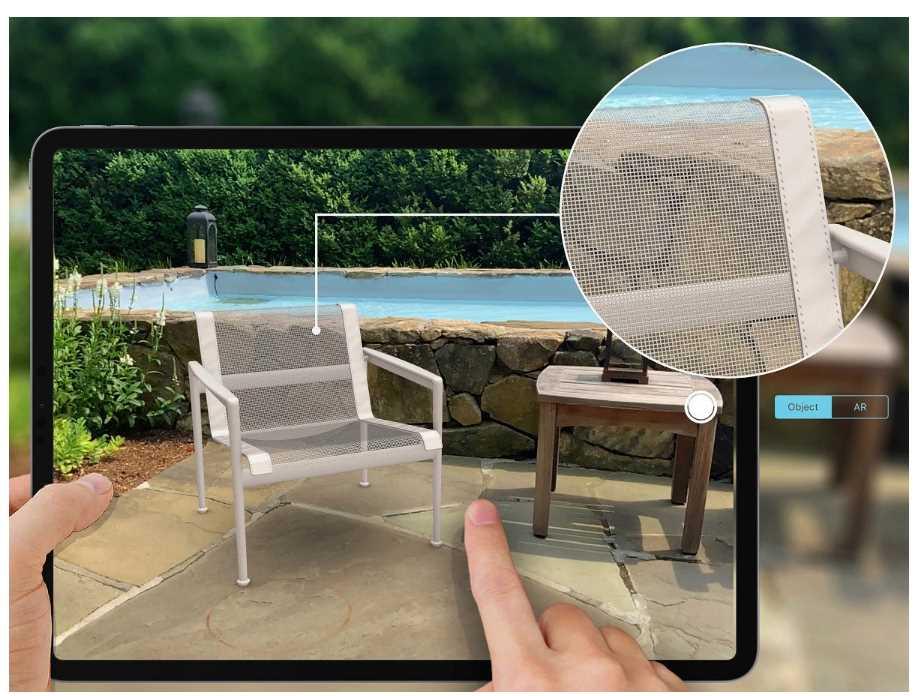 Mueble virtual en escenario real