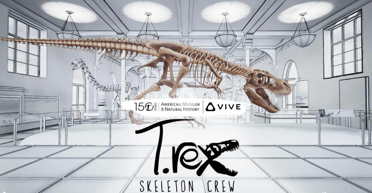Para montar un Tyrannosaurus rex usando Realidad Virtual