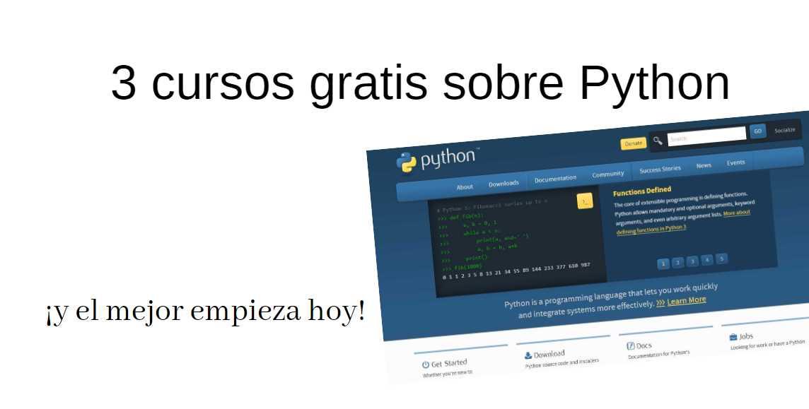 3 cursos gratis sobre Python que tienes que conocer