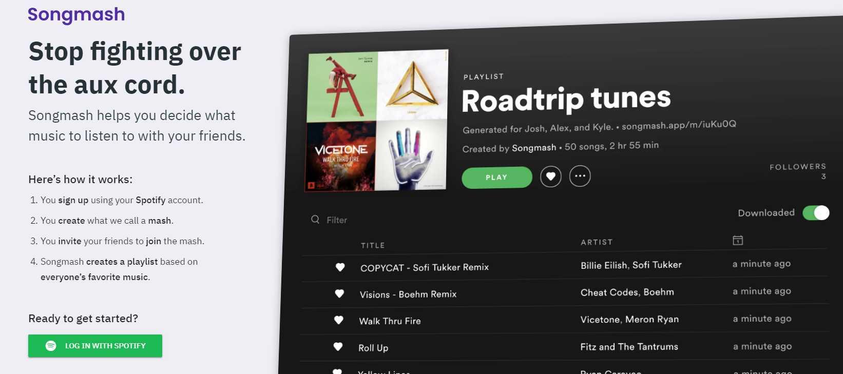 Songmash, para crear listas de música a partir de los favoritos de un grupo de amigos