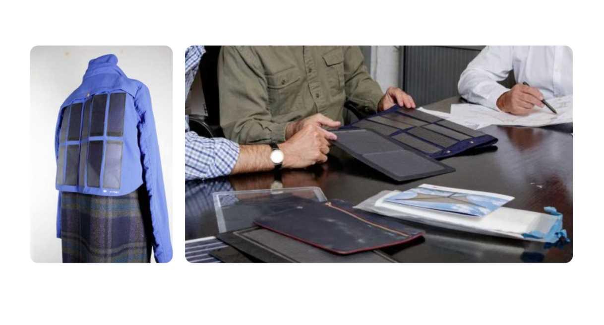 Los paneles solares flexibles de la empresa Pvilion, para ponerlos en ropa