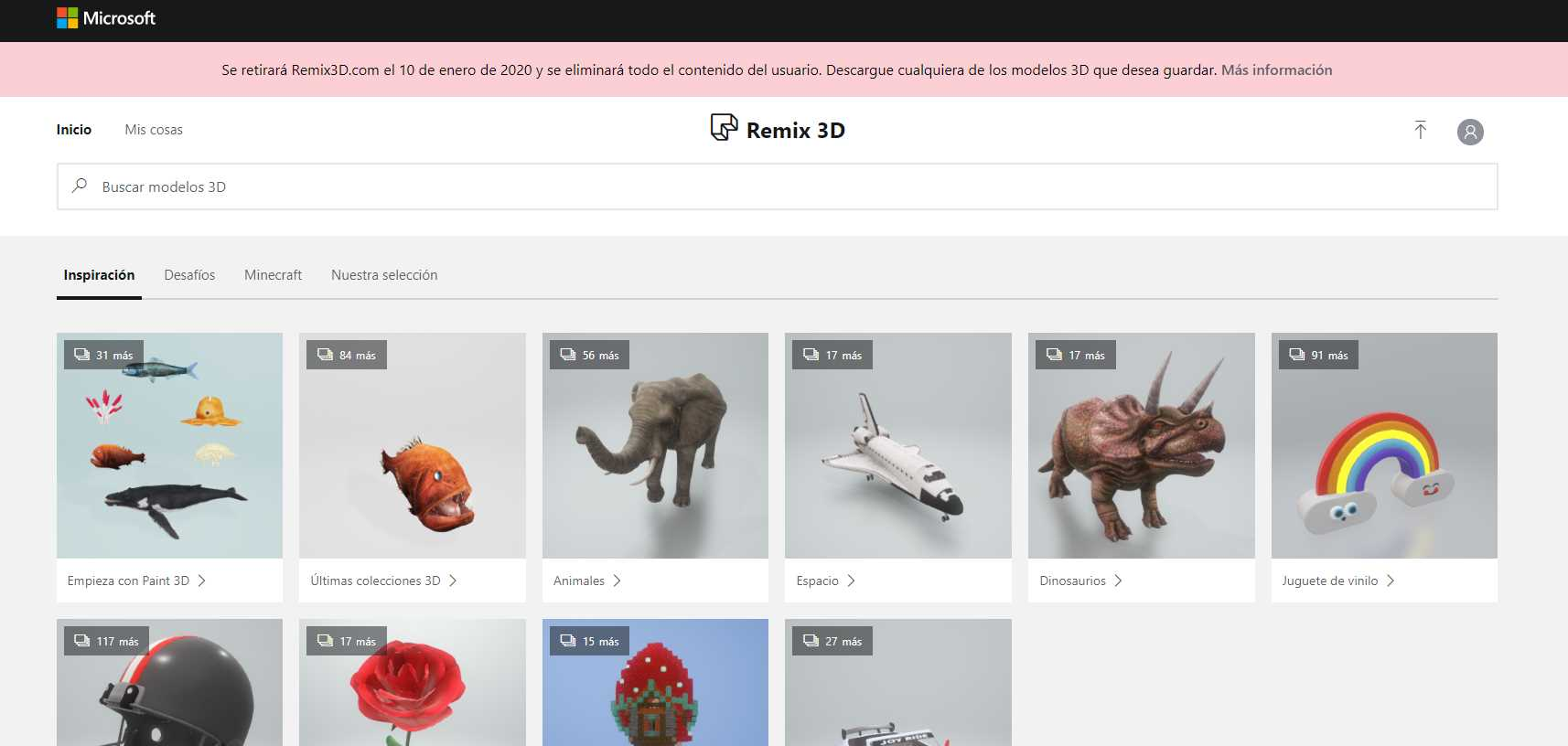 Microsoft eliminará Remix 3D, su plataforma para compartir modelos 3D