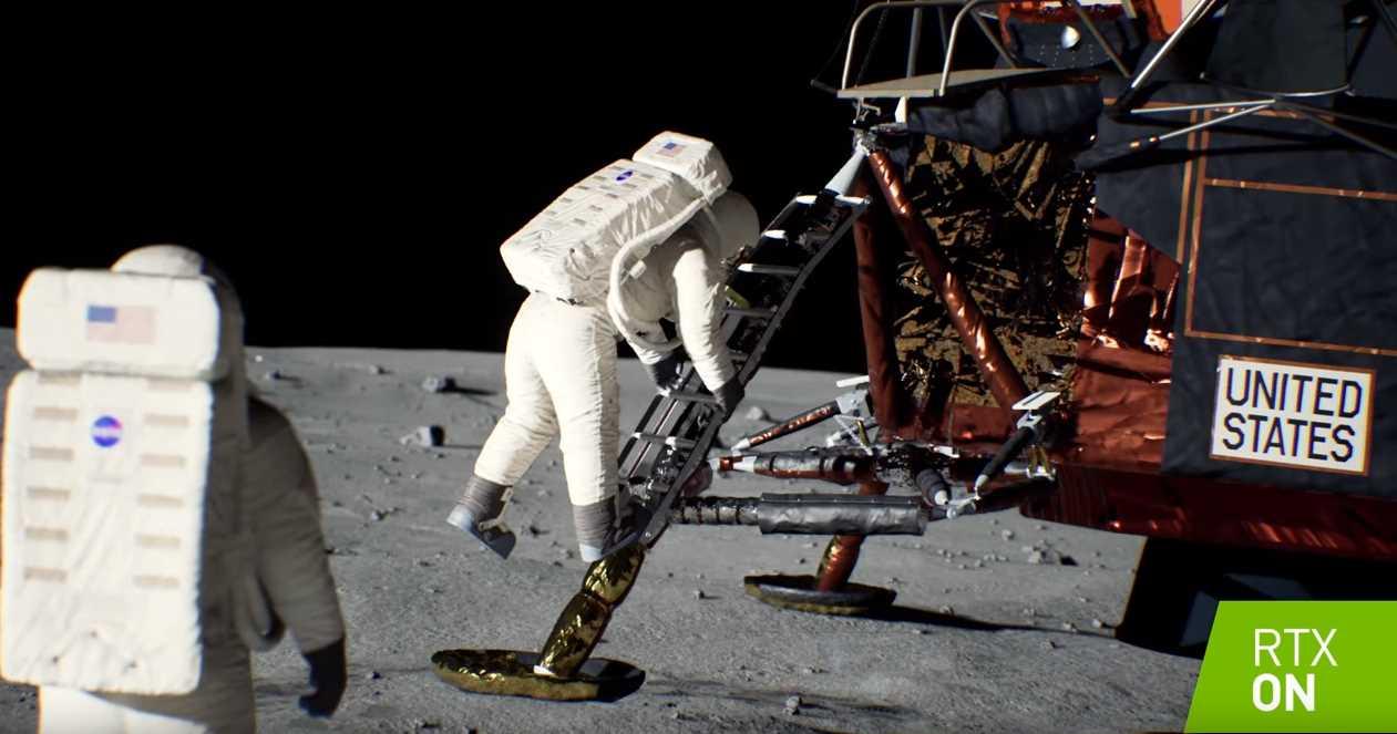 La tecnología de Nvidia nos lleva de nuevo a la Luna