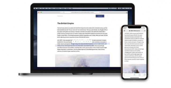 Telescope, una plataforma de publicación en la web realmente atractiva