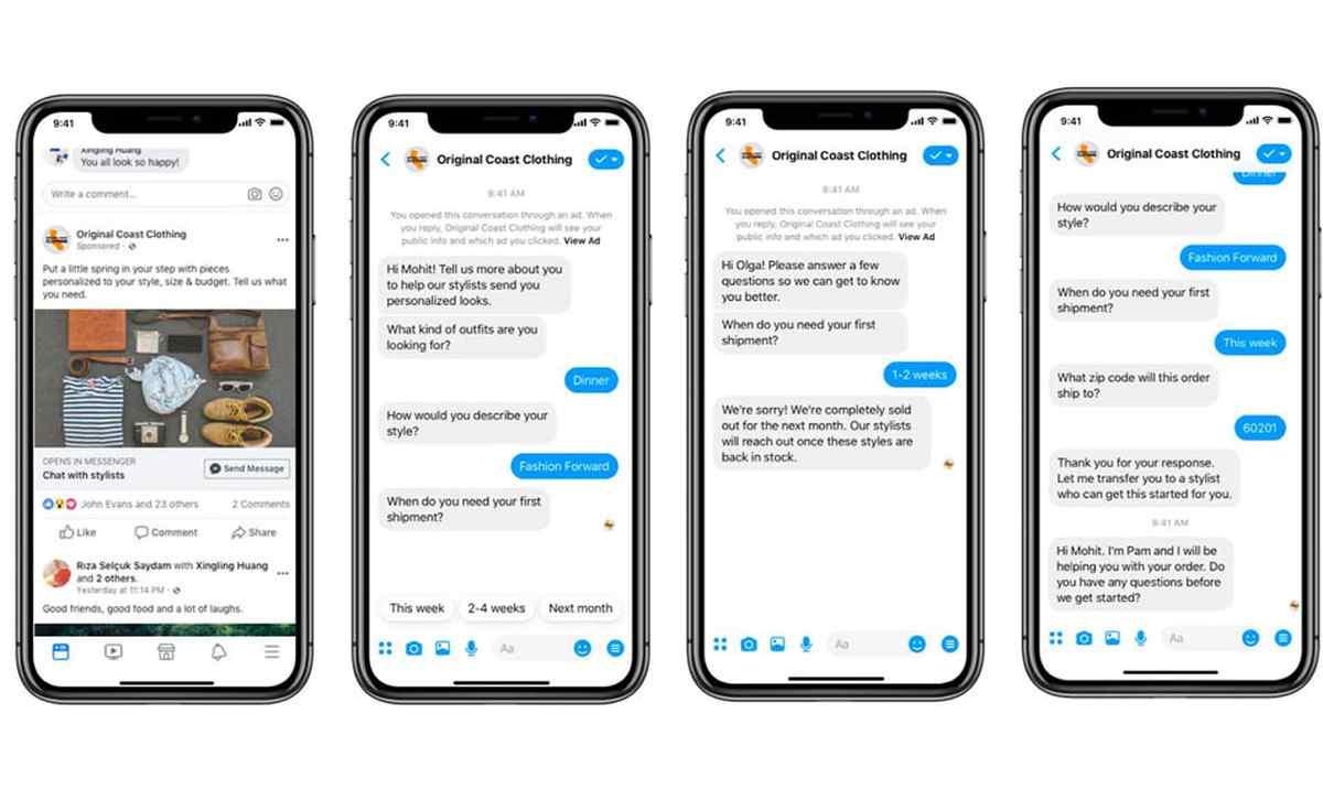 Facebook trae nuevas herramientas para empresas a Messenger, y eliminará la pestaña Descubrir
