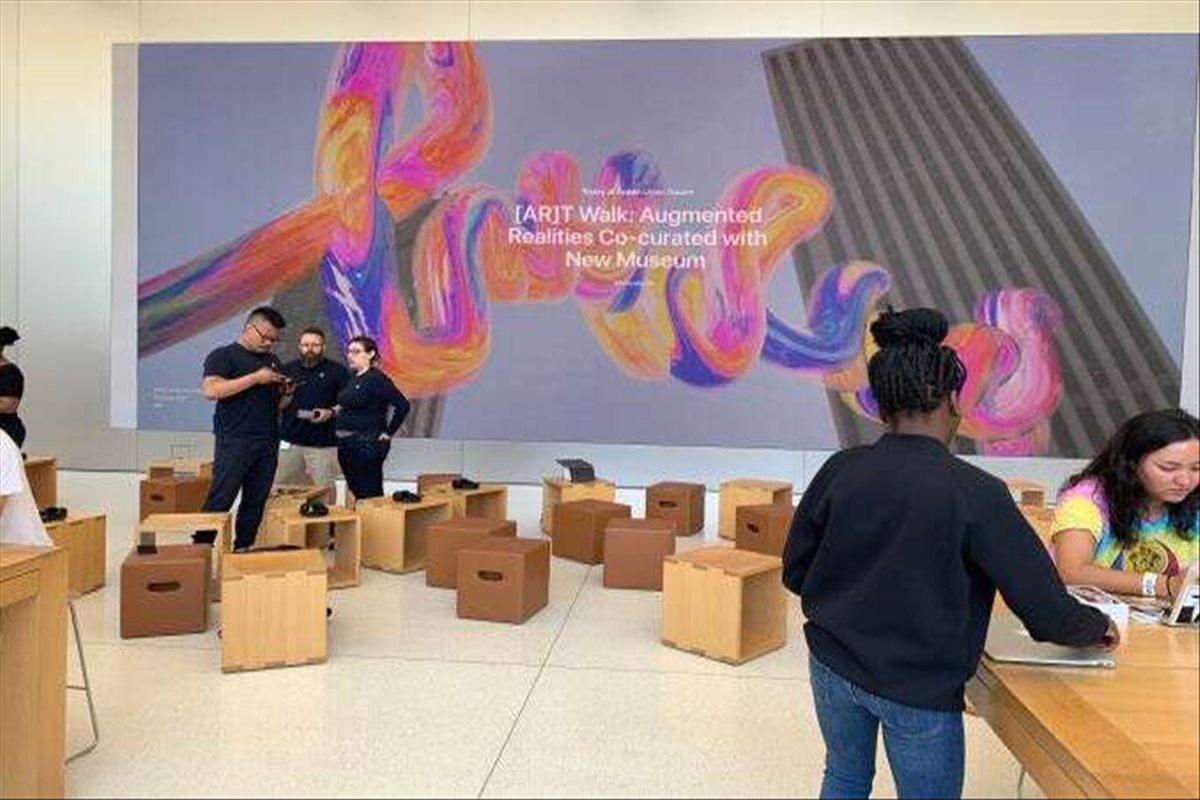 Apple usa la realidad aumentada para inaugurar una exposición de arte