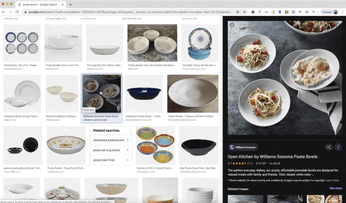 Google Imágenes ahora facilita comparar productos en su actualización de escritorio