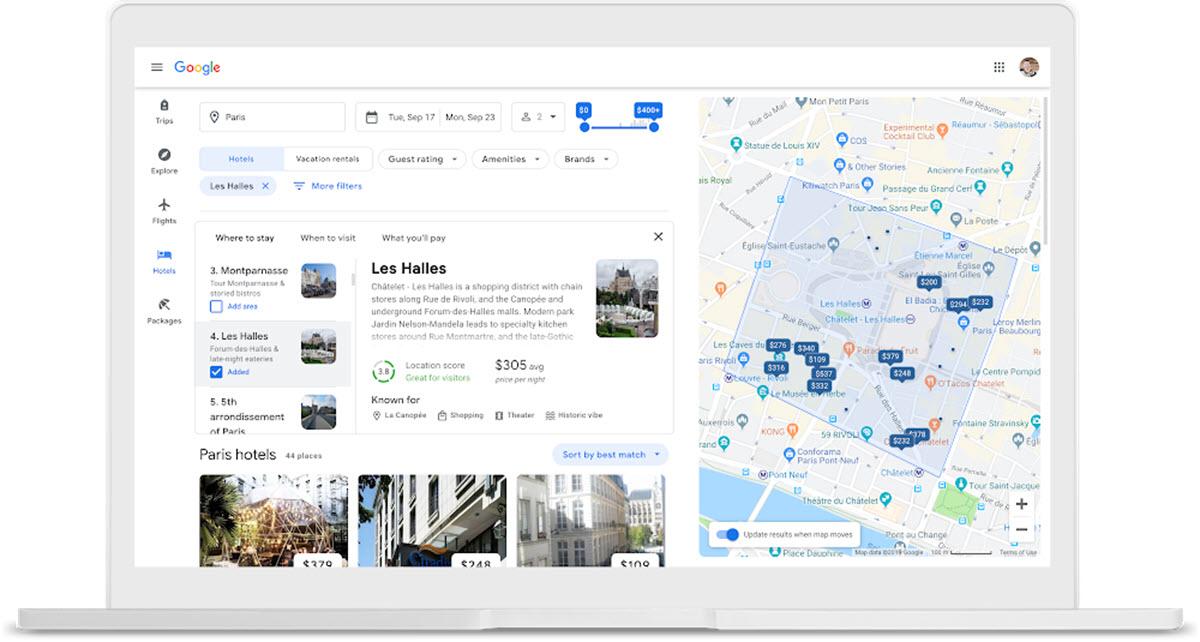 Google añade nuevas opciones para reservar vuelos y hoteles