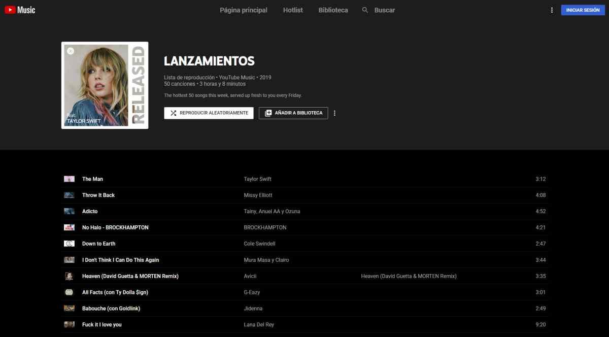 YouTube Music quiere que conozcas los nuevos lanzamientos musicales con su nueva lista de reproducción
