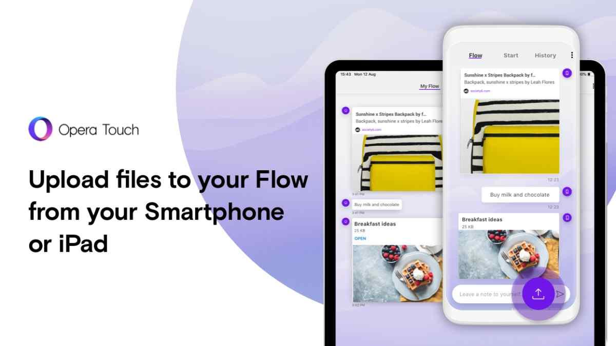 Nueva versión de Opera Touch para Android e iOS permite compartir archivos entre dispositivos